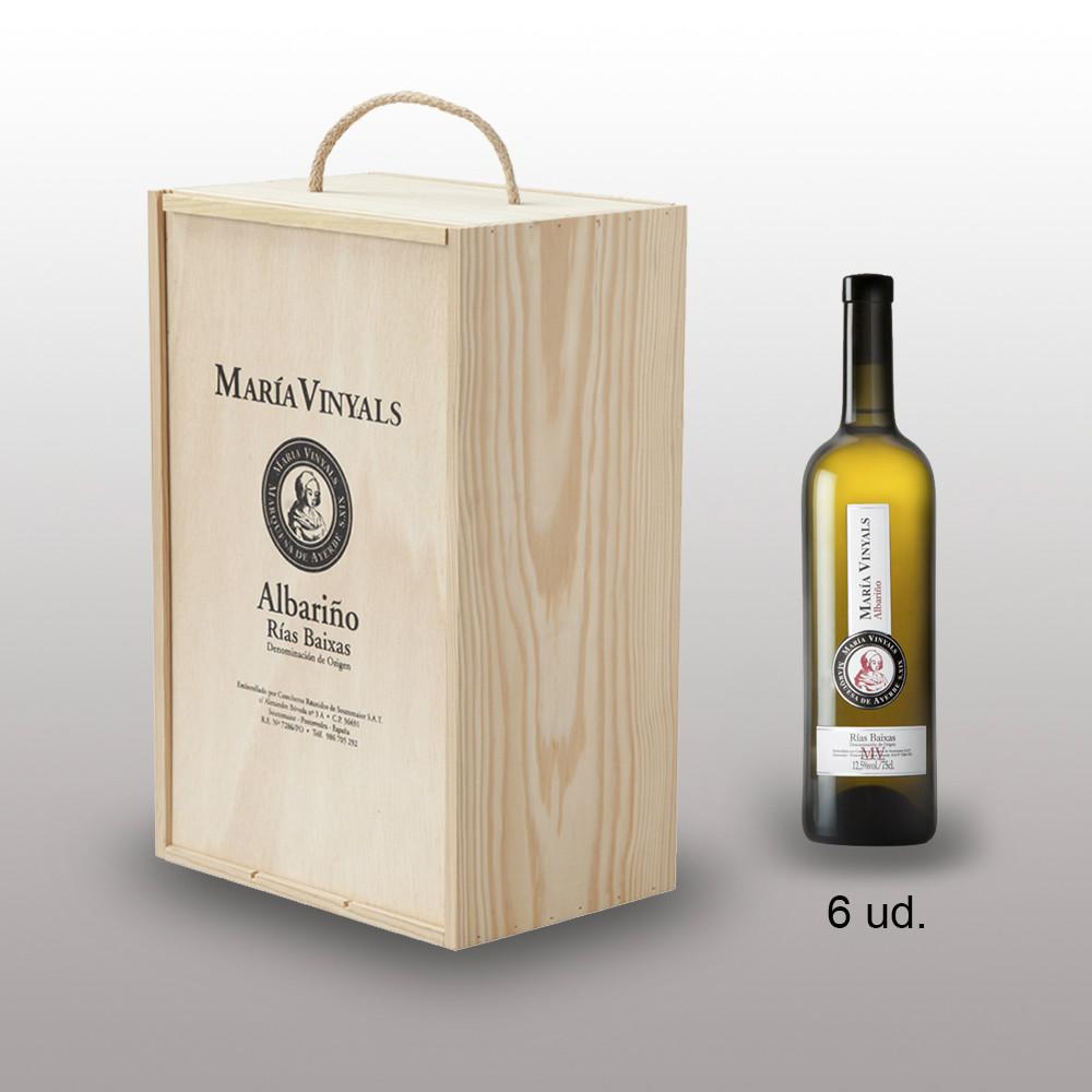 Albario Mara Vinyals madera 6 de 750 vino blanco de calidad de